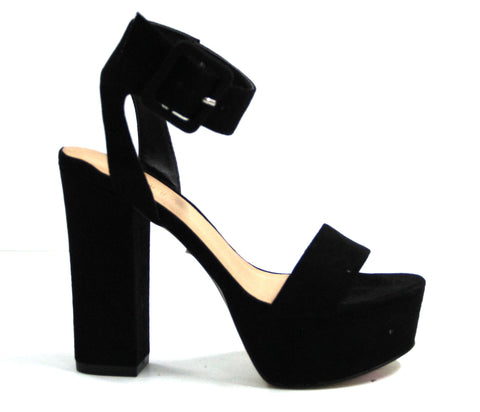 Therapy Lelda Black Suede Heel