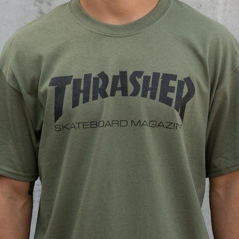 Thrasher Skate Mag Tee Army Green 20065101