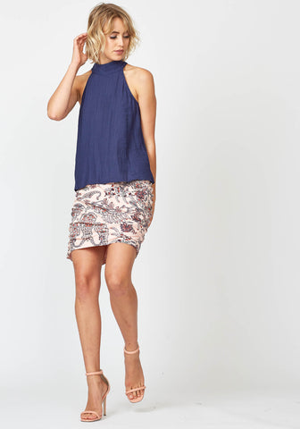 Three Of Something Sweet November Top Navy