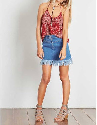 Times Ten Cami Red Paisley