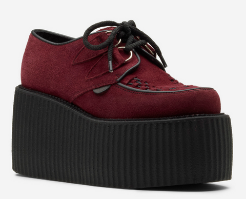 Underground ORIGINAL WULFRUN CREEPER – BURGUNDY SUEDE – TRIPLE SOLE