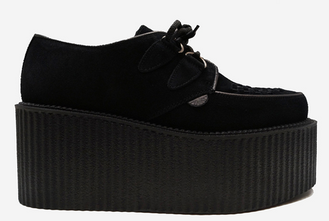 Underground triple-sole Wulfrun Creeper black suede