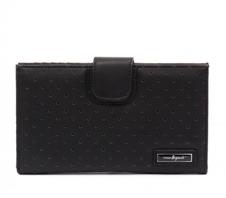 Urban Originals Matinee Perforated Black Wallet