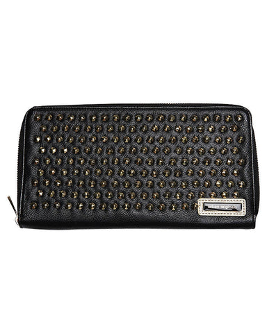 Urban Originals Stud Zip Wallet Black