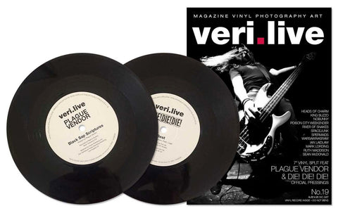 "ISSUE 19 ​VERI.LIVE ISSUE 19 + VINYL INCLUDED FEATURE ​S​ include Heads Of Charm, King Buzzo, Poison City Weekender, River of Snakes, Spacejunk, Spermaids, Warsawwasraw | VINYL Plague Vendor ""Black Sap Scriptures""and Die! Die! Di  Famous Rock Shop 517 Hunter Street Newcastle 2300 NSW Australia"