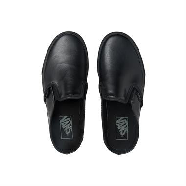 Vans Classic Slip-On Mule ( Leather ) Black Black VN0004KTL3B Famous Rock Shop. 517 Hunter Street Newcastle, 2300 NSW Australia
