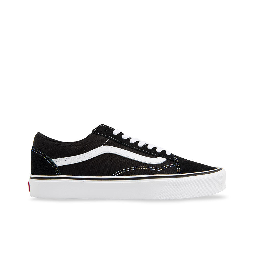 709645b3306a Vans Old Skool Lite+ (Suede   Canvas) Black  White