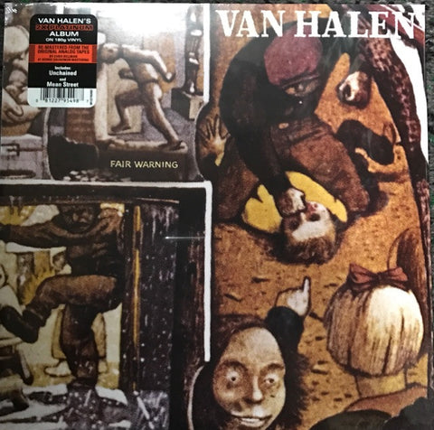 Van Halen ‎– Fair Warning Vinyl