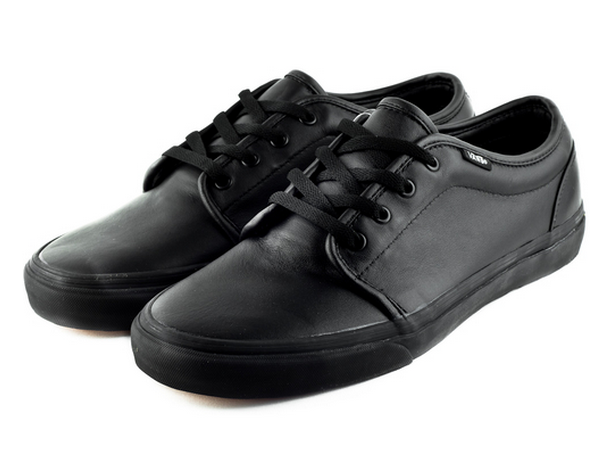 all black vulcanized vans