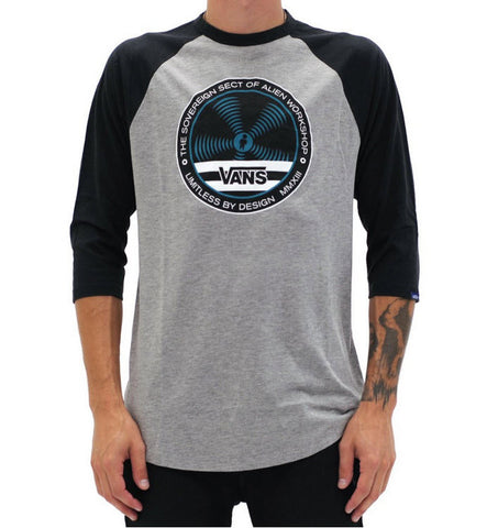 Alien Workshop Collection. 50% Cotton 50% Polyester 3/4 sleeve raglan with printed graphic on chest. Famous Rock Shop Newcastle 2300 NSW Australia
