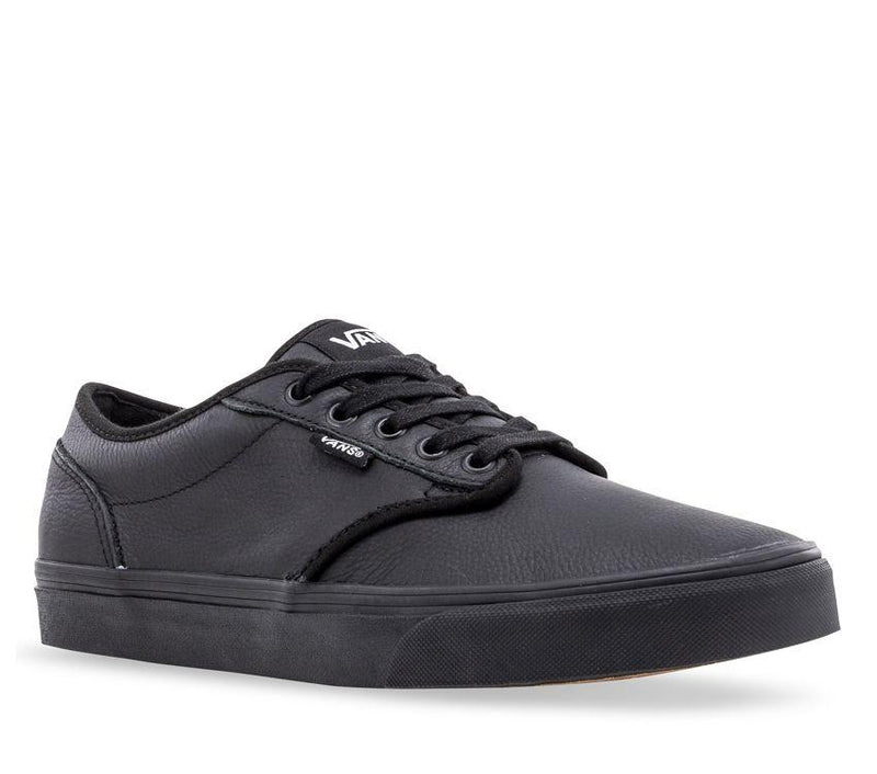 Vans Atwood Mono Black Leather School Shoes