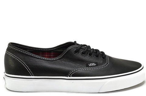 Vans Authentic (Leather) Black/Plaid VN-0003Z3I1I