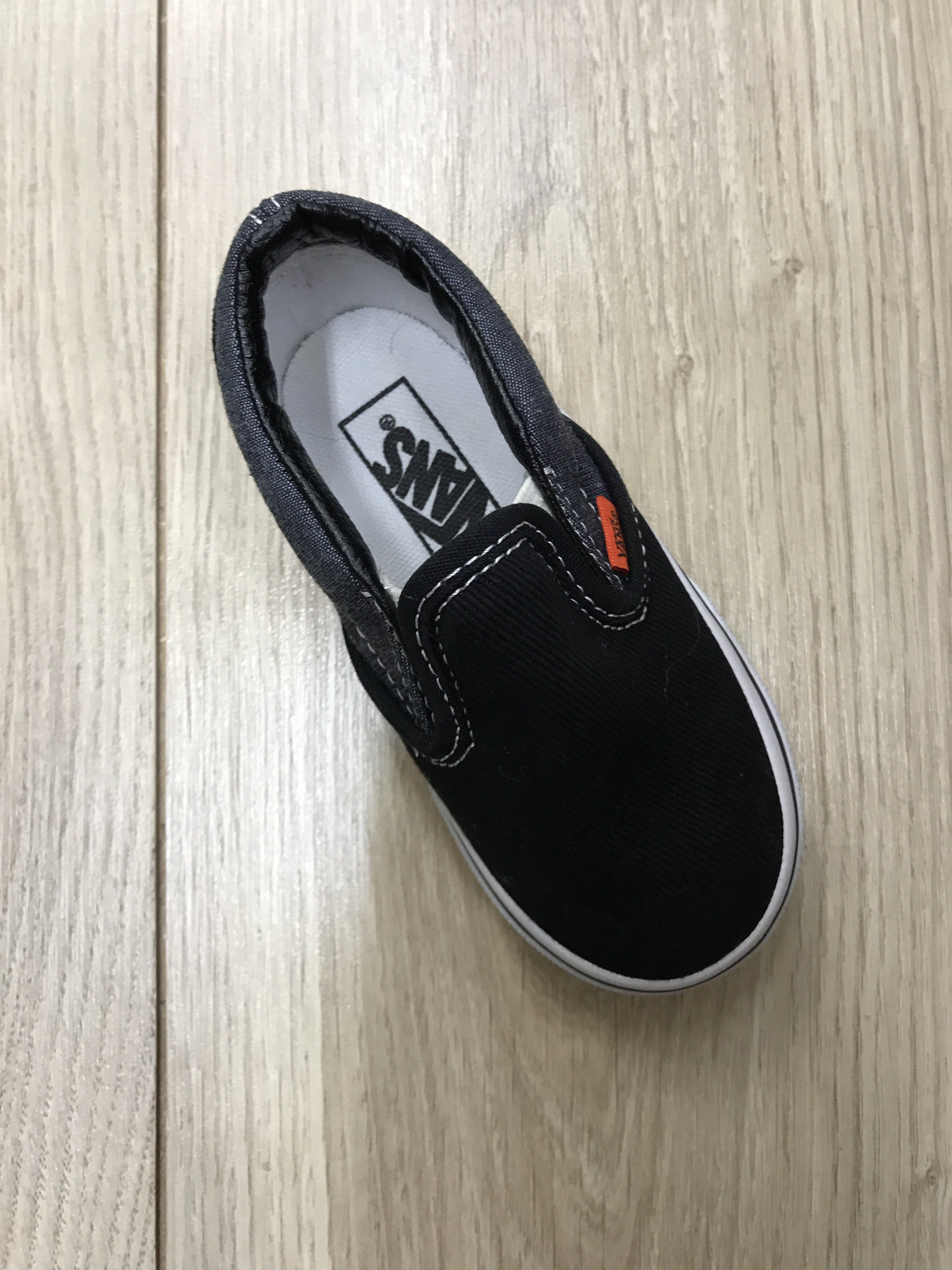 d836b11f7e Vans Toddler Classic Slip On Black True White Chambray