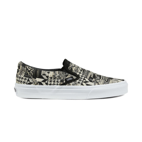 Vans Classic Slip On Italian Weave White Black