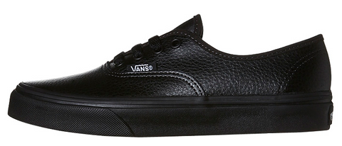 Vans Youth Authentic Leather Black Black VN-018RL3B