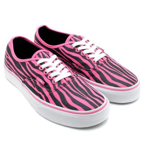 0c40399adf Vans Kids Authentic (Zebra Glitter) Hot Pink Black Famous rock Shop 517  Hunter Street