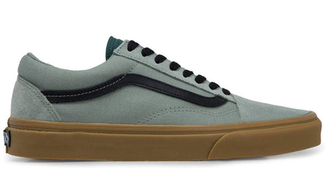 Vans Old Skool Gum Shadow Grey Trekking Green Canvas & Suede Skate Shoe
