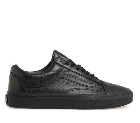 Vans Old Skool Leather Black Black VN03Z6L3A Famous Rock Shop Newcastle, 2300 NSW. Australia. 1