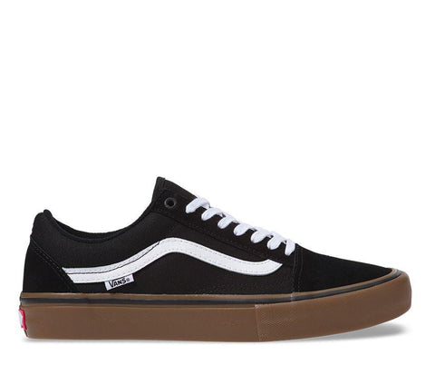 Vans Old Skool Pro Black White Medium Gum VN000ZD4BW9 Suede & Canvas Skate Shoe
