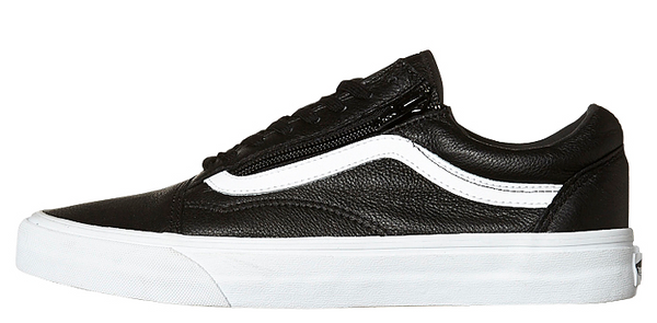 Vans Old Skool Zip (Premium Leather) - Black VN-018GEW9 – Famous ... b138531a6830
