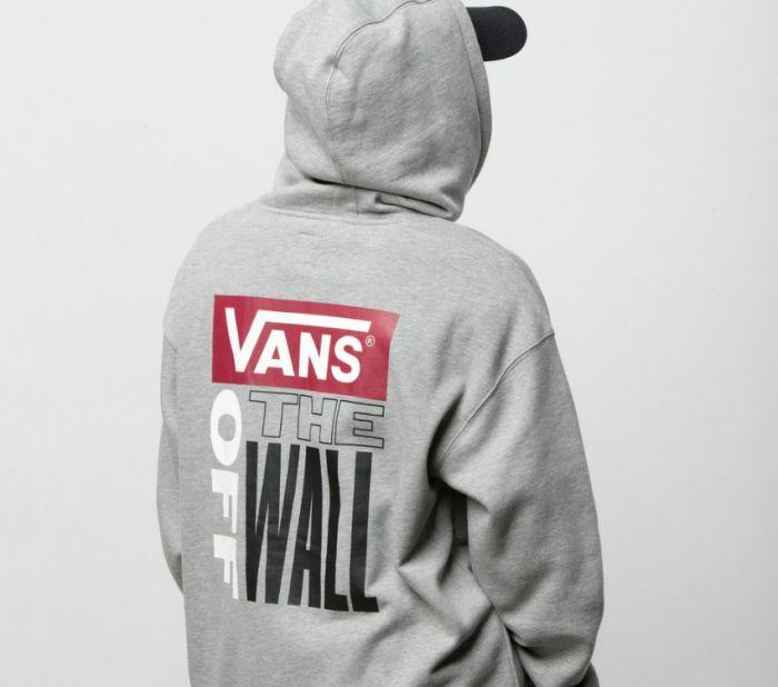 Vans Retro Tall Type Cement Heather Hoodie VN0A3W2P02F Famous Rock Shop Newcastle 230 NSW Australia 1