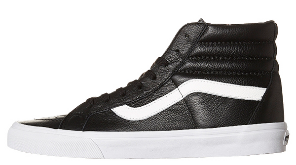 1db80ae736 Vans SK8 HI REISSUE Premium Leather Shoe - Black VN-0ZA0EW9 – Famous ...