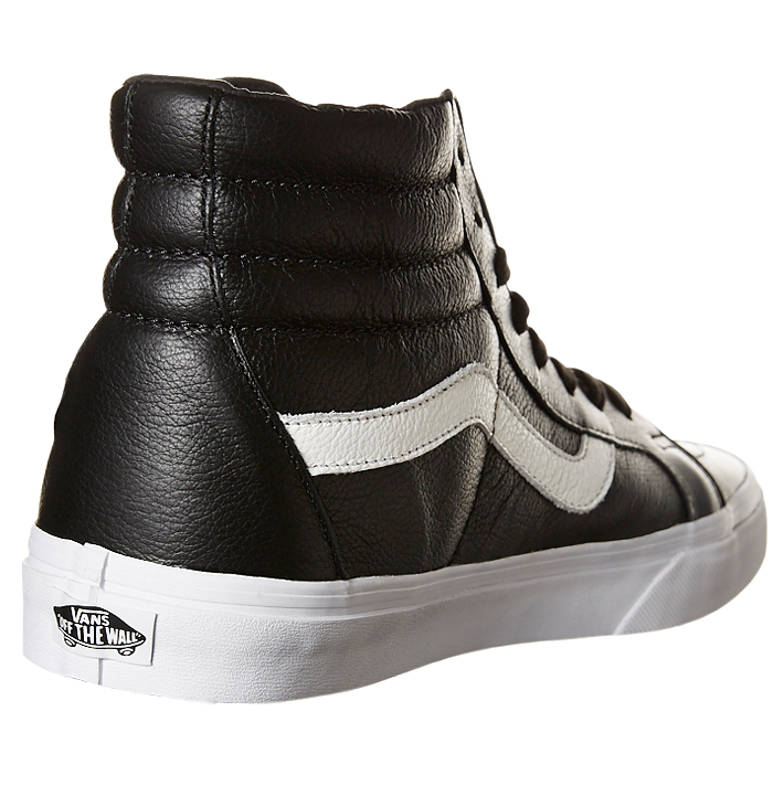077c203770 ... Vans SK8 HI REISSUE Premium Leather Shoe - Black VN-0ZA0EW9 ...
