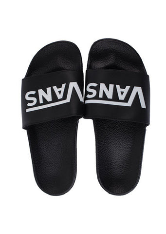 Vans Slip On Slides Black VN-04KIIX6 Famous Rock Shop. 517 Hunter Street Newcastle, 2300 NSW. AUSTRALIA