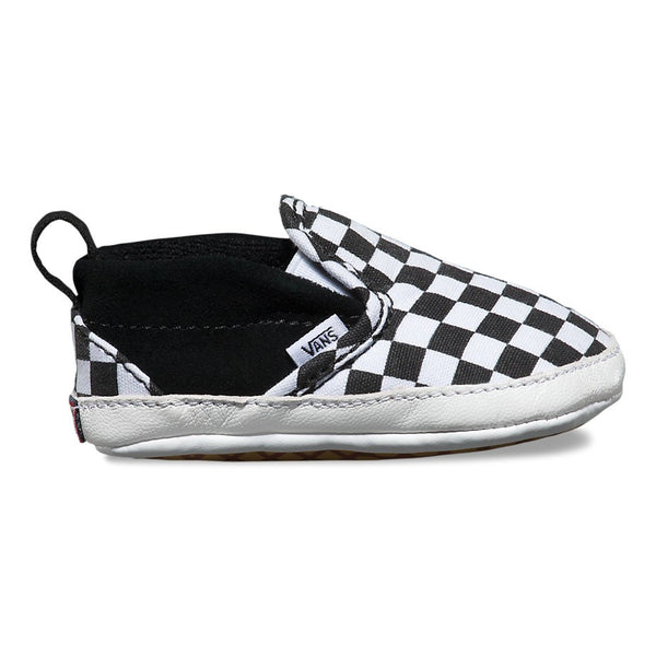 Vans Slip On Crib Checker Black & True White Famous Rock Shop Newcastle 2300 NSW Australia