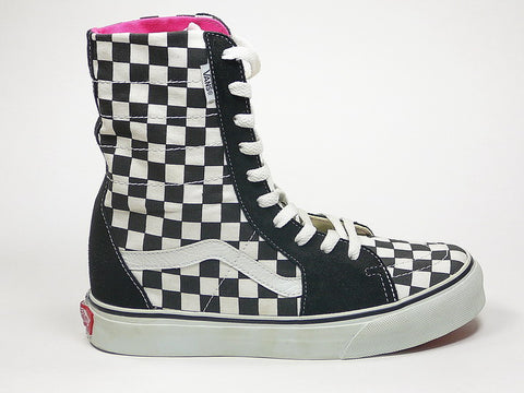 Vans Super SK8-HI Black White Checkerboard 4846199 055 Famous Rock Shop Newcastle, 2300 NSW. Australia. 1