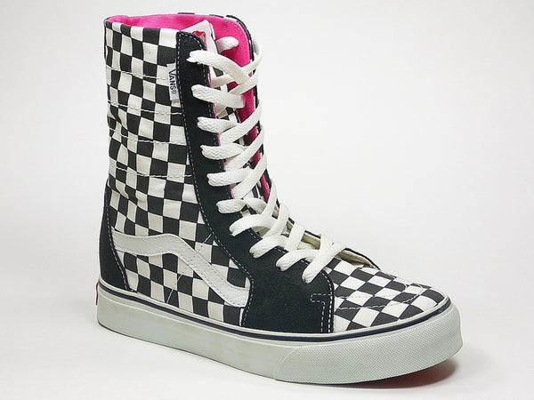 f734a5aa55027f ... Vans Super SK8-HI Black White Checkerboard 4846199 055 Famous Rock Shop  Newcastle