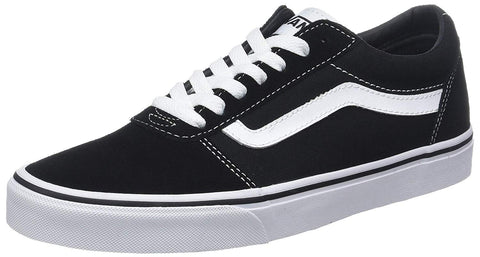 Vans Ward Suede Canvas Black and White VN0A36EMC4R This style combines the original and now iconic Vans low top style with sturdy canvas/suede uppers, metal eyelets, and signature rubber waffle outsoles. PRODUCT DETAILS Canvas upper Lace up closure Padded collar for extra comfort Vulcanized original waffle outsole Famous Rock Shop Newcastle 2300 NSW Australia