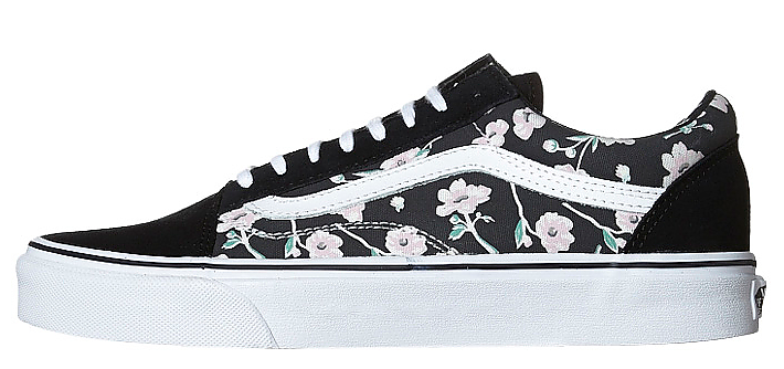 Vans Women s Old Skool (Vintage Floral) - Blue Graphite VN-01R1GXP – Famous  Rock Shop 70a293aa9e