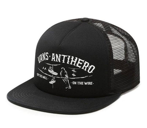 Vans X Anti Hero On The White Black Trucker Hat VNA3I3OB0Y Famous Rock Shop Newcastle, 2300 NSW. Autralia. 1