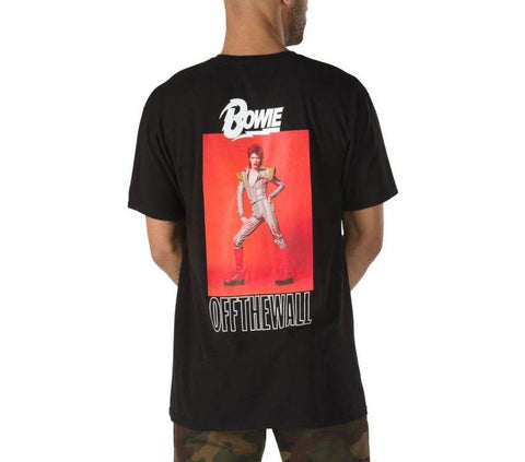 Vans X David Bowie Ziggy Stardust Short Sleeve T-Shirt Black VNA3WCPBLK Famous Rock Shop Newcastle, 2300 NSW. Australia. 1