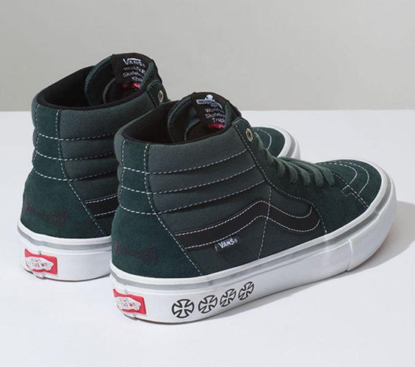 4c93b4461426 ... Vans X Independent SK8-HI PRO Spruce VN00VHGU24 Famous Rock Shop  Newcastle