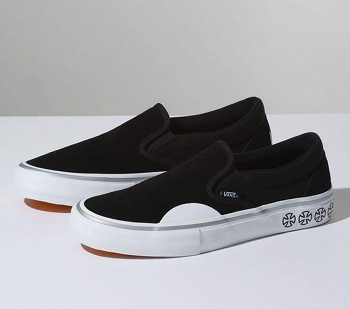 d9862a685fbd9c Vans X Independent Slip-On Pro Black White VN0097MU2B Famous Rock Shop  Newcastle