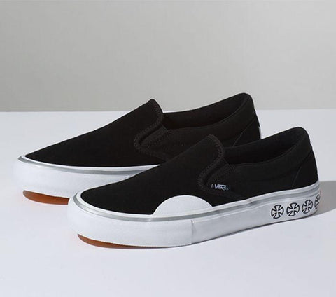 Vans X Independent Slip-On Pro Black White VN0097MU2B Famous Rock Shop Newcastle, 2300 NSW. Australia. 1