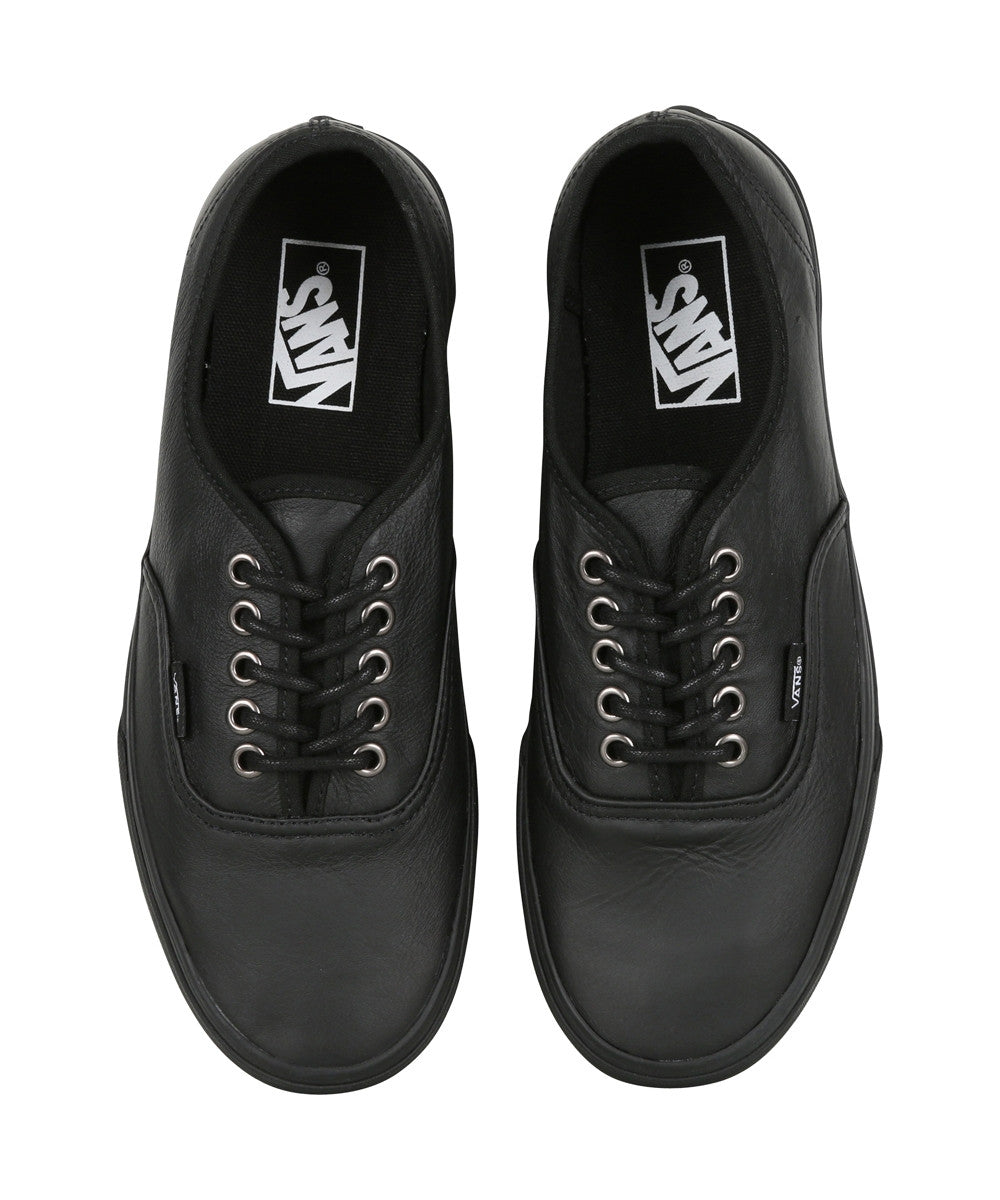 ... Vans Authentic (Italian Leather) Black  Black The Leather Authentic is  a simple lace ... d23693a01
