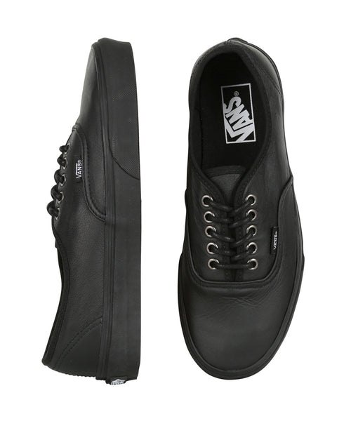 a992129959 Vans Authentic Italian Leather Black Black School Shoes – Famous Rock Shop
