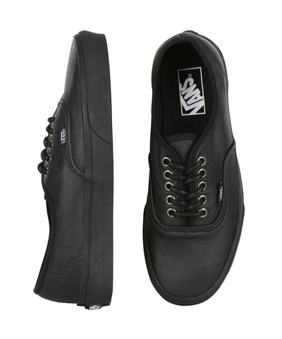 Vans Authentic ( Italian Leather ) Black /Black