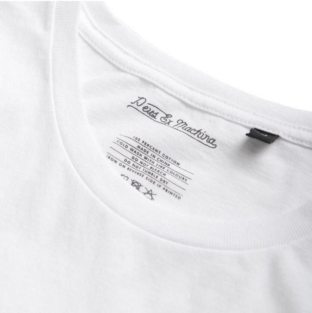 Deus Venice CA. Address Tee White D1808