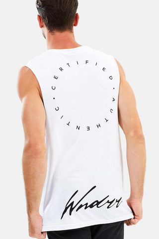 WNDRR Empire Muscle Top White