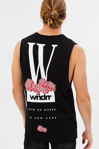 WNDRR Thorne Muscle Top Black