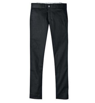 Dickies 801 Skinny Straight Fit Black Work Pants
