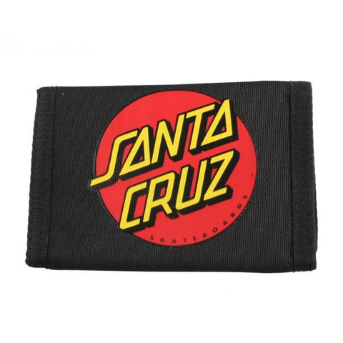 Santa Cruz Big Dot Velcro Wallet Black