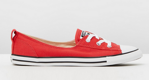 Converse Ballet Lace Slip-On Red Brake Light