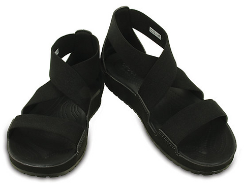 Crocs Anna Ankle Strap Sandals Black