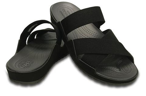 Crocs Anna Slide Sandals Black