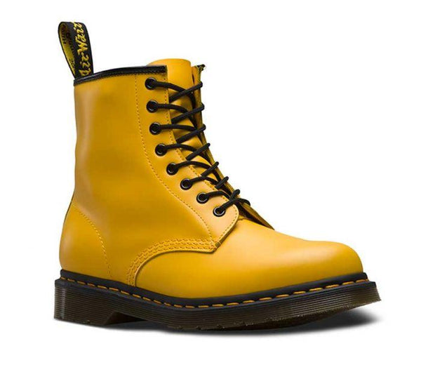 Dr Martens 1460 8 Eye Boot Yellow Smooth 24614700 Famous Rock Shop Newcastle 2300 NSW Australia